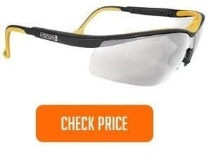 Dual Comfort Clear High-Performance Protective Safety Glasses with Dual-Injected Rubber Frame and Temples